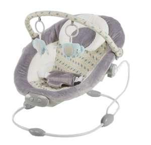 Baby Mix rezgő-zenélő Pihenőszék - Elefánt #szürke-bézs 30990223 Pihenőszék, elektromos hinta