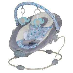 Baby Mix rezgő-zenélő Pihenőszék - Elefánt #szürke-kék 30990224 Pihenőszék, elektromos hinta
