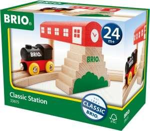 Brio Klasszikus vasútállomás szett 30990269 Vonat, vasúti elem, autópálya