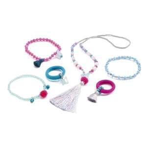 Gyerekékszer készlet - Jewels pompoms and butterflies 30990435 Karkötő
