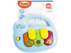Winfun Játék zongora #kék 31023534 Fejlesztő játék babáknak
