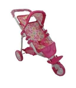 Baby Mix háromkerekű Játék babakocsi - Pillangó #rózsaszín 30992012 Játék babakocsi