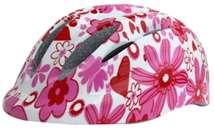 Baby Mix biztonsági Sisak 52-55cm - Virág #fehér-rózsaszín 30992020 Járgányok