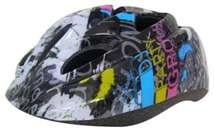 Baby Mix biztonsági Sisak 52-55cm #fekete 30992021 Biciklis védőfelszerelés, kiegészítő