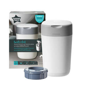 Tommee Tippee Sangenic Twist&Click Pelenkatartó vödör #fehér 30992602 Pelenkatartó vödör, zacskó