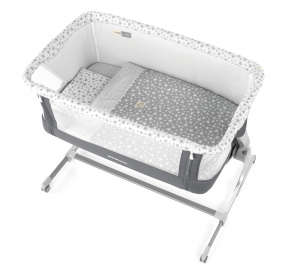 Jané BabySide szülői ágyhoz csatlakoztatható Kiságy - Csillag #szürke