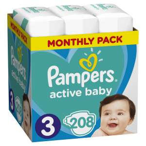 Pampers Active Baby havi Pelenkacsomag 6-10kg Midi 3 (208db) 30994615 Csak akciós termékek
