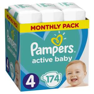 Pampers Active Baby havi Pelenkacsomag 9-14kg Maxi 4 (174db) 30994625 Pelenka