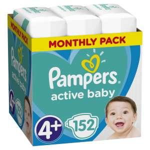 Pampers Active Baby havi Pelenkacsomag 10-15kg Maxi 4+ (152db)  30994650 Csak akciós termékek
