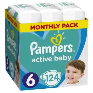 Pampers Active Baby havi Pelenkacsomag 13-18kg Junior 6 (124db)