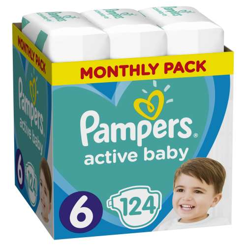 Pampers Active Baby havi Pelenkacsomag 13-18kg Junior 6 (124db) 30994687