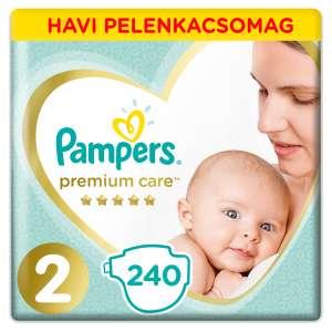 Pampers Premium Care havi Pelenkacsomag 4-8kg Mini 2 (240db) 31019401 Csak akciós termékek