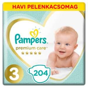 Pampers Premium Care havi Pelenkacsomag 6-10kg Midi 3 (204db) 31019400 Pelenka