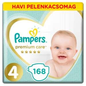 Pampers Premium Care havi Pelenkacsomag 9-14kg Maxi 4 (168db)