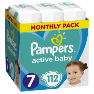 Pampers Active Baby havi Pelenkacsomag 15kg+ Junior 7 (112db)