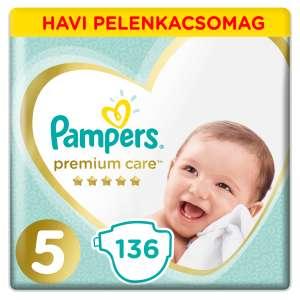Pampers Premium Care havi Pelenkacsomag 11-16kg Junior 5 (136db) 31019398 Pelenka
