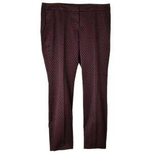 Comma Sara slim, sötétlila, mintás női nadrág – 44 31065964 Női nadrág