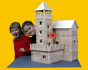 Vario Box fa építőjáték faládában, 450 db-os 31002351 Fa építőjáték