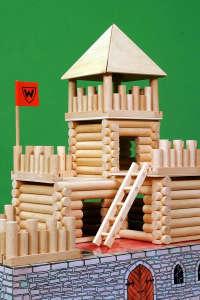 Fa építőjáték - Vario vár 31002354 Fa építőjáték