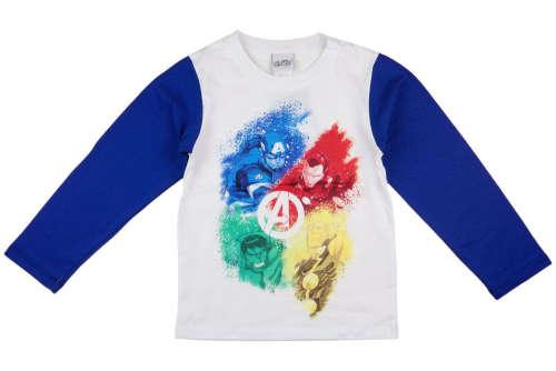 Hosszú ujjú póló - Bosszúállók #fehér-kék