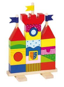 Fa építőkockák - Montesszori vár 31003322 Fa építőjáték