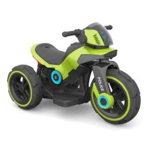 Baby Mix 3 kerekű Elektromos motor hang-és fényeffekttel - Police #zöld
