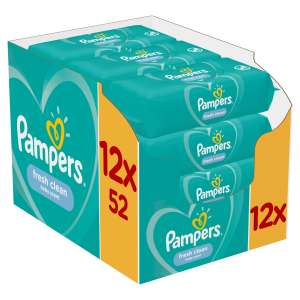 Pampers Fresh Clean Törlőkendő 12x52db