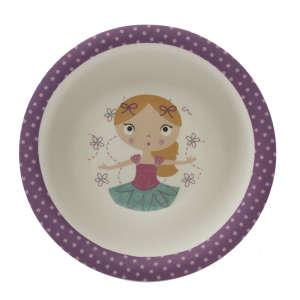 Zopa Bambusz Mélytányér - Balerina 31059914 Gyerek tányér, evőeszköz, étkészlet