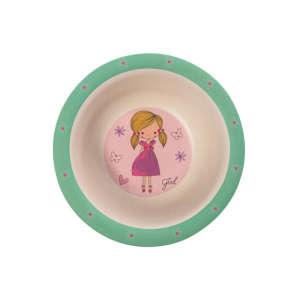 Zopa Bambusz Mélytányér - Balerina 31059968 Gyerek tányér, evőeszköz, étkészlet