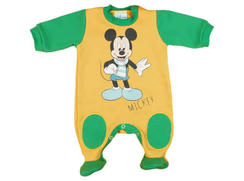 Disney hosszú ujjú Rugdalózó - Mickey Mouse #sárga-zöld 31060188