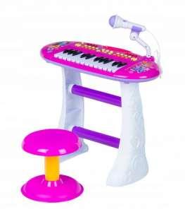 Játék Szintetizátor #rózsaszín-fehér 31065933 Hangszer