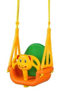 Ecotoys 3in1 Hinta - Maci #sárga-zöld 31066515 Beltéri hinta, hintaágy, babahinta