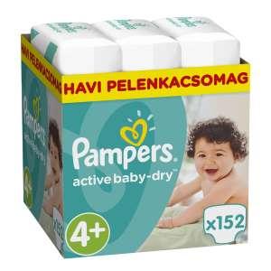 Pampers Active Baby Dry havi Pelenkacsomag 9-16kg Maxi 4+ (152db) 31158422 Pampers Pelenka