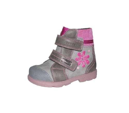 Szamos szürke rózsaszín vízálló bélelt tépőzáras lány supinált gyerekcipő 19-24