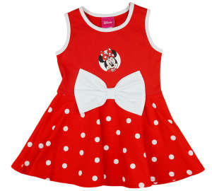 Disney ujjatlan Kislány ruha masnival - Minnie Mouse #piros