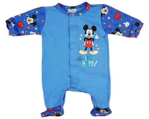 Disney hosszú ujjú Rugdalózó - Mickey Mouse #sötétkék