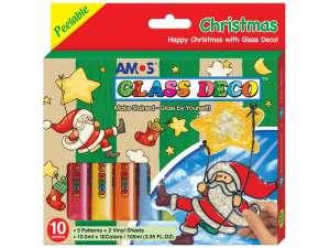 Üvegmatrica karácsonyi dekor készlet 31179247 Üveg és textil festék
