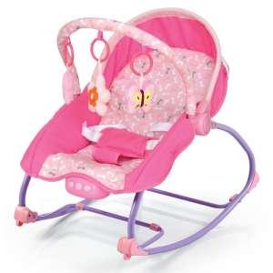 Baby Mix rezgő-zenélő Pihenőszék #rózsaszín 31191909 Pihenőszék, elektromos hinta