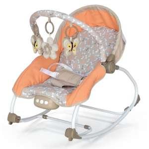 Baby Mix rezgő-zenélő Pihenőszék #bézs-narancssárga (8963) 31191911 3 pontos biztonsági öv