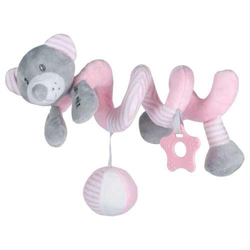 Baby Mix Spirál játék - Maci #rózsaszín