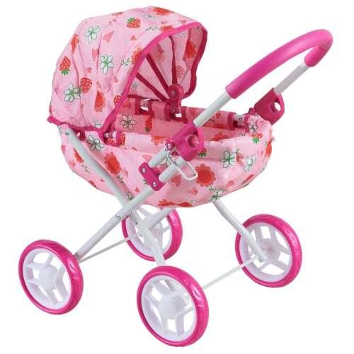 Baby Mix 4 kerekű Játék babakocsi - Virág #rózsaszín