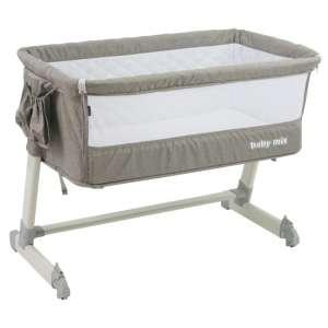 Baby Mix 2in1 szülői ágyhoz csatlakoztatható Kiságy fém vázzal #bézs 31191984