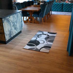 Gira Marseille kör mintás szürke-fehér színű 80 cm x 150 cm-es szőnyeg 31192098 Szőnyeg