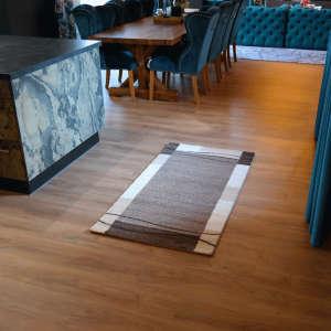 Gira Glasgow fehér-bézs színű mintás szőnyeg 80 cm x 150 cm-es 31192102 Szőnyeg
