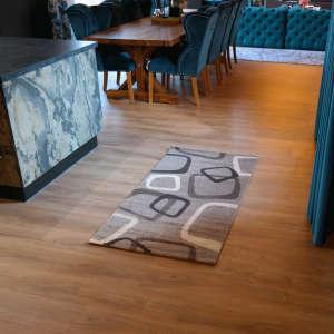 Gira Rotterdam bézs-barna színű kocka mintás szőnyeg 80 cm x 150 cm -es 31192106 Szőnyeg
