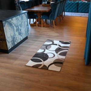 Gira Palermo fehér-barna színű kör mintázatú szőnyeg 80 cm x 150 cm - es 31192108 Szőnyeg
