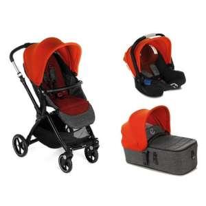 Jané Kendo 3in1 multifunkciós Babakocsi + Koos i-Size R1 hordozó + Micro mózes #narancssárga-szürke 2020