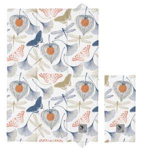 Ceba Hordozható pelenkázó alátét 40x60cm - Virág #fehér-kék 31192848 Pelenkázó lap