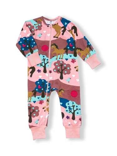 JNY organikus gyerek pizsama - lovas 31193978