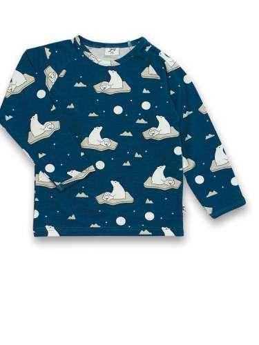 JNY organikus pamut hosszú ujjú kisfiú póló - jegesmedve